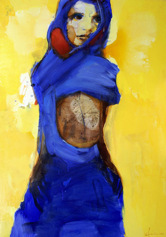 The Woman with Blue Scarf